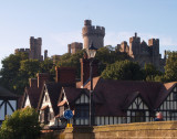 Arundel Castle dominates the skyline.