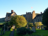 Evening at Stokesay Castle.