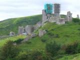 Corfe Castle ruins.
