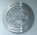 A plaque,in Richmond.