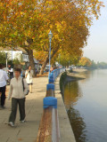 The riverside walk in Putney.