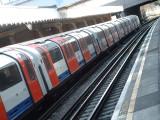 A Central Line tubetrain.