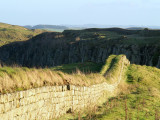 Hadrian's  Wall ,looking  to  Peel  Crags.