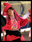 Dancer at Hiram Bingham Train at Cusco