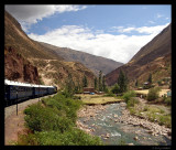 Front of Hiram Bingham, en route to Machu Picchu
