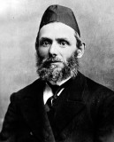 Portrait of my great-grandfather, Yehuda Sperling, taken in Slutsk, Russia. He was born in 1861 and died in Sioux City, Iowa in 1935.