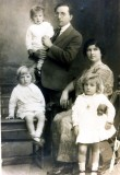 Growing family: my grandparents with Alisa, Joseph, and Aviva. Taken in Jerusalem around 1925.