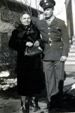 My father with an aunt at the start of the Second World War. Taken in Sioux City, Iowa.