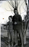 My father with a young cousin at the start of the Second World War. Taken in Sioux City, Iowa.