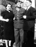 My father with an aunt and uncle at the start of the Second World War. Taken in Sioux City, Iowa.