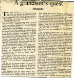 Part 1 of an article about me and my grandfather, published in the Jerusalem Post in 1996.