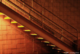 Stairs in early morning darkness