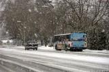Bus in Springfield snowstorm