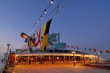 A glance at the aft of Lido deck before daybreak
