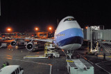 This B747-400 will be fly to Taiwan in midnight.
