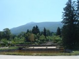 Mount Vitosha behind the museum