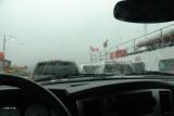 Regen op de veerboot van Digby Neck