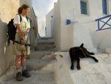 Debra&dog   santorini
