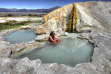 travertine hot springs, HDR image