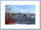 Niagara  River drops quickly into upper rapids