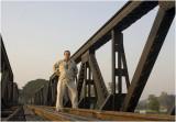 Self-portrait-River Kwai bridge (Kanchanaburi)
