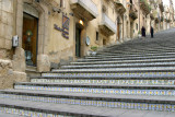 Caltagirone,ceramic steps up to the church