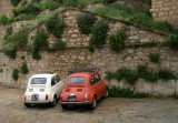 old small Fiat 500;often to see in Sicily