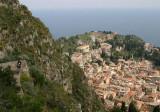 steps down to Taormina centre