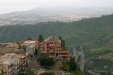 Highway passing Taormina underneath