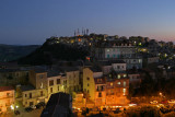 Enna,view from hotel - night,Sicily