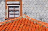 Tiled roof and window