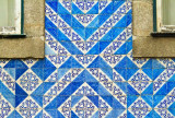 Two corners and blue tiles