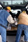 Ben and Casey Loading the Van