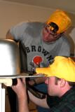 Casey and Ben Still Installing Sink