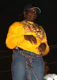 Mardi Gras Woman in Yellow