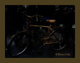 bicyclette en rotin...