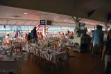 Breakfast buffet area.