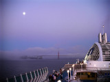 The Dawn Princess, the Moon and the Golden Gate