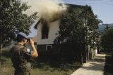 Burning house in Bistrica