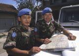 Ghurka soldier and British Ghurka officer