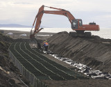 Kivalina revetment under construction