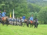 Husarerna går i attack mot infanteriet