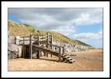 Steps on the beach