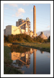 Power station reflection