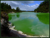 Volcanic lake at Waiotapu, North Island