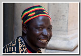 street musician from Senegal