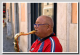 Rome, street musician