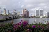 bridge from Palm Beach to W Palm Beach (Trump Plaza on the right)