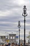 Brooklyn Bridge with streetlights