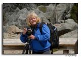 Karen looking for that next shot at Great Falls